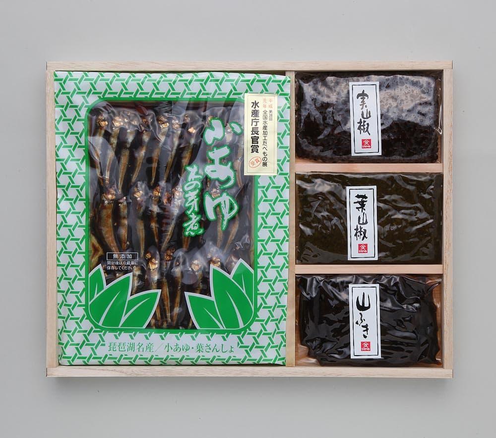 K30 実山椒・葉山椒・山ふき・小鮎木の芽煮(大)2袋